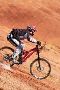 Extremsport mit Fullface Helm