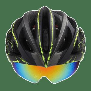 Ein Fahrradhelm mit Visier