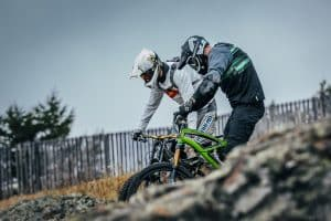 Mountainbike Tour mit Downhill Helm